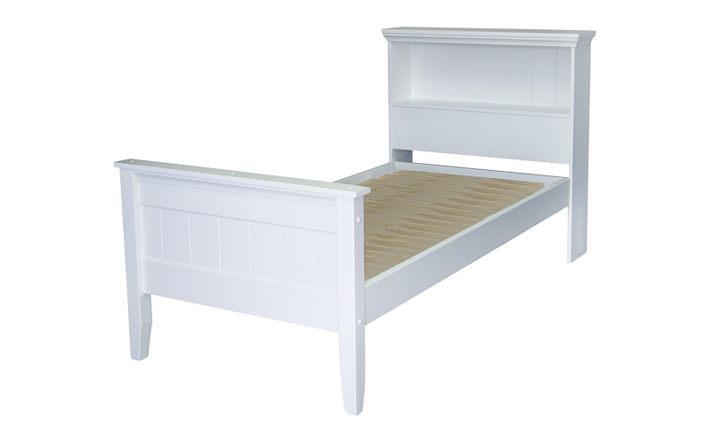 Adventure Bed Base with Shelf – High Foot